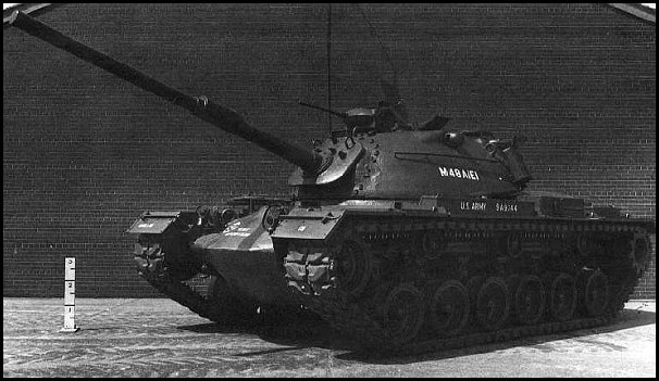 M48 with 105mm M68 gun. US Patton IIIs retained the 90mm weapon until the late 70s, because the smaller gun was enough in Vietnam, and the M60 main battle tank was available for service in Europe instead.