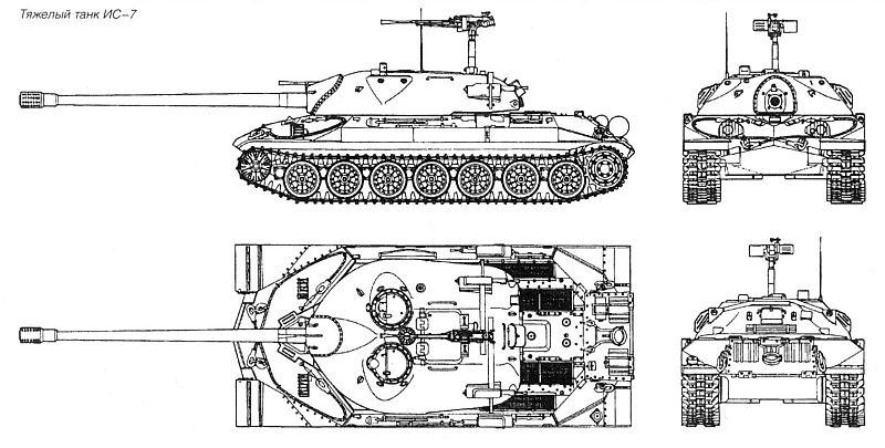 """...конструктора Ж.Я. Котина был разработан первый послевоенный тяжелый танк, получивший индекс ИС-7( """"Иосиф Сталин """" ."""